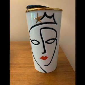 Starbucks 2015 Crown Anniversary Siren face mug